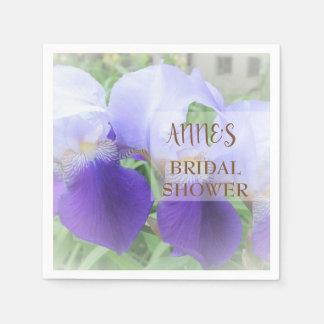 Servilletas de papel del iris de la ducha nupcial