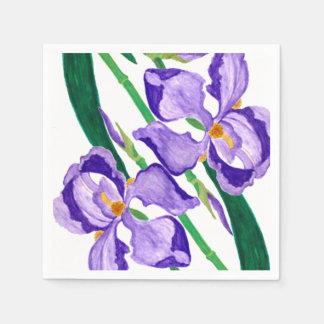 Servilletas de papel del iris púrpura diagonal