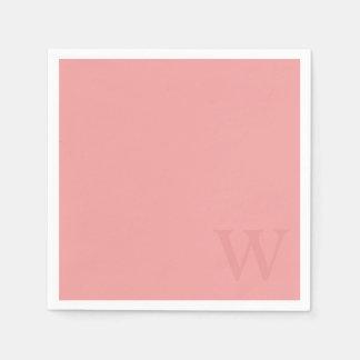 Servilletas de papel del monograma del rosa de