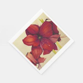Servilletas de papel del navidad del alumerzo rojo