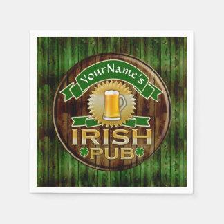 Servilletas De Papel Día irlandés del St Patricks de la muestra del Pub