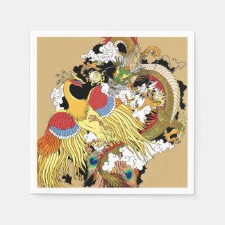 Servilletas De Papel Dragón y Phoenix chinos