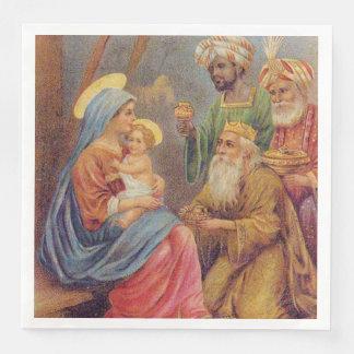 Servilletas De Papel Ejemplo de Jesús de la natividad del vintage del