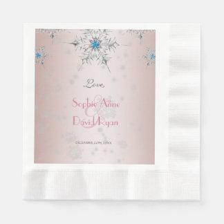 Servilletas De Papel El casarse rosado de las perlas de los cristales