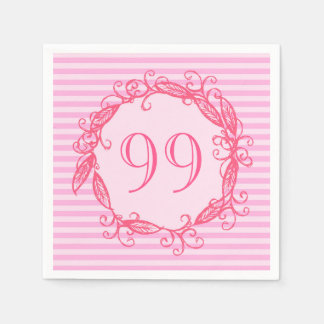 Servilletas De Papel El cumpleaños Swirly rosado hermoso de las mujeres