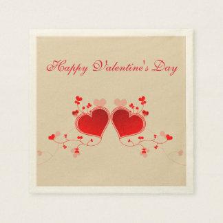 Servilletas De Papel El día de San Valentín feliz