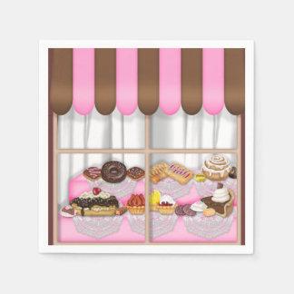 Servilletas De Papel El dulce de la ventana de la panadería trata las