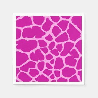 Servilletas De Papel Encanto animal de la moda de la selva rosada de la