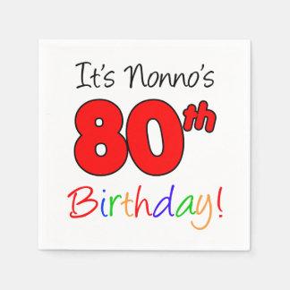 Servilletas De Papel Es 80.as servilletas del cumpleaños de Nonno