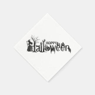 Servilletas de papel espeluznantes de Halloween