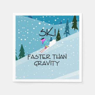 Servilletas De Papel Esquí SUPERIOR más rápidamente