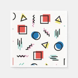 Servilletas De Papel estilo abstracto de Memphis de los años 80