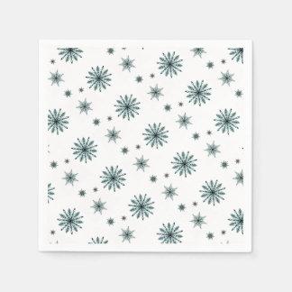 Servilletas De Papel Estrellas escarchadas del copo de nieve