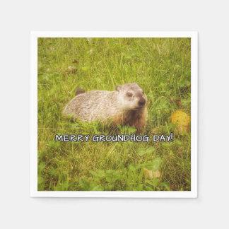 Servilletas De Papel Feliz día de la marmota