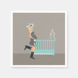 Servilletas De Papel Fiesta de bienvenida al bebé del vaquero - Blonde
