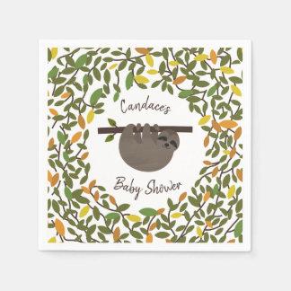 Servilletas De Papel Fiesta de bienvenida al bebé del verdor del otoño