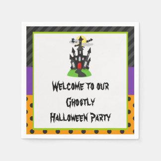 Servilletas De Papel Fiesta de Halloween de la casa encantada