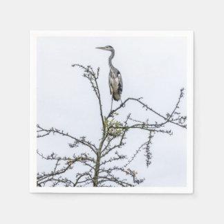 Servilletas De Papel Garza en un árbol