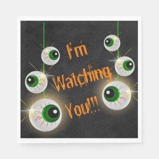 Servilletas De Papel Globo del ojo le estoy mirando las servilletas de