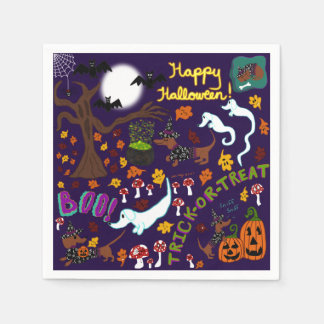 Servilletas De Papel Halloween del Dachshund de la diva