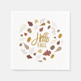Servilletas De Papel Hola servilletas del follaje de otoño