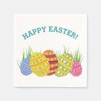 Servilletas De Papel Huevos de Pascua retros en la hierba