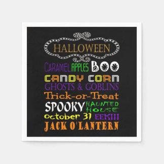 Servilletas De Papel Invitaciones y sustos de Halloween