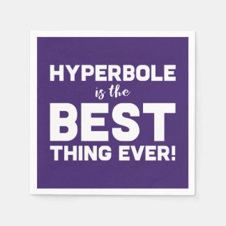 Servilletas De Papel La hipérbole divertida del Wordplay es la mejor