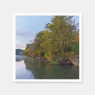 Servilletas De Papel Lago Springfield morning del otoño