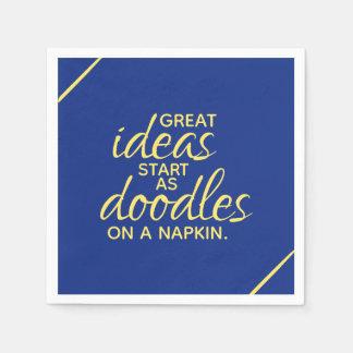 Servilletas De Papel Las grandes ideas comienzan como Doodles en una