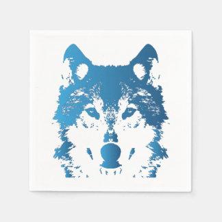 Servilletas De Papel Lobo de los azules claros del ilustracion