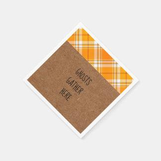 Servilletas De Papel Los fantasmas de Kraft recolectan aquí servilletas