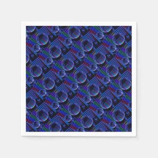 Servilletas De Papel Luces espirales en el cristal