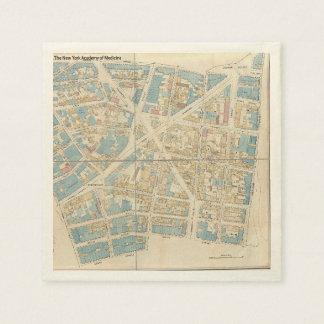 Servilletas De Papel Mapa de Manhattan
