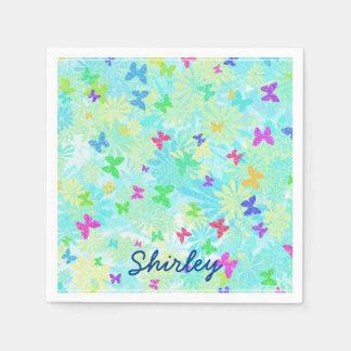 Servilletas De Papel Mariposas y margaritas coloridas de Shirley Taylor