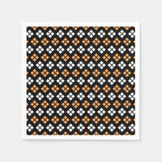 Servilletas De Papel Modelo anaranjado claro y blanco elegante de