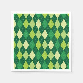 Servilletas De Papel Modelo verde del argyle
