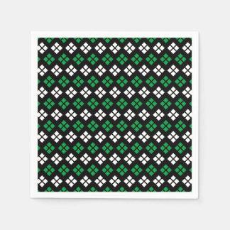 Servilletas De Papel Modelo verde y blanco de Kelly moderno de Argyle