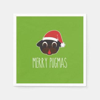 Servilletas De Papel Navidad negro de Santa del barro amasado de Pugmas