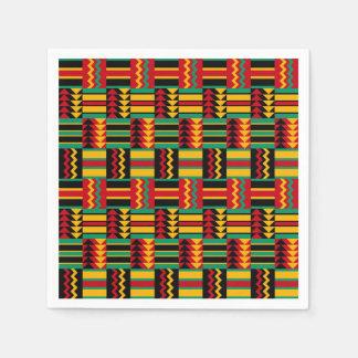Servilletas De Papel Negro rojo del verde amarillo de cesta del orgullo