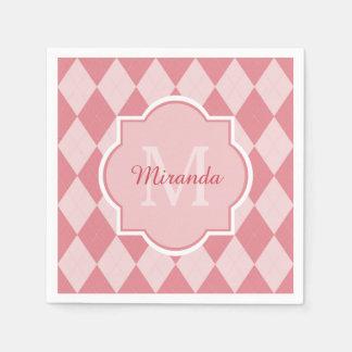 Servilletas De Papel Nombre femenino rosa claro de muy buen gusto del