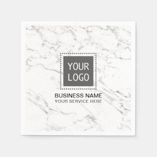 Servilletas De Papel Oficina de negocios de mármol blanca moderna de