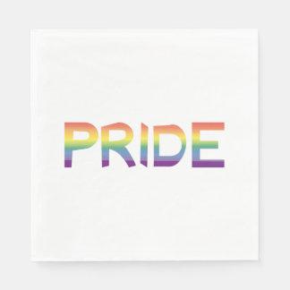 Servilletas De Papel Orgullo de la bandera del arco iris
