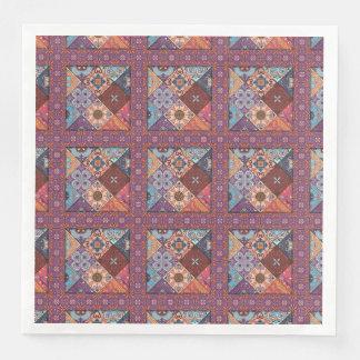 Servilletas De Papel Ornamento de Talavera del mosaico del vintage