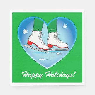 Servilletas De Papel Patines de hielo en el navidad