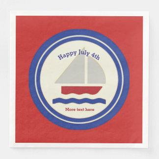 Servilletas de papel patrióticas náuticas