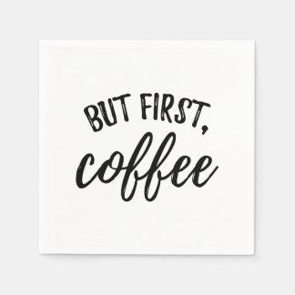 Servilletas De Papel Pero primeras servilletas del cóctel del café