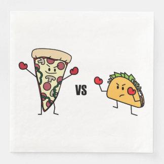 Servilletas De Papel Pizza de salchichones CONTRA el Taco: Mexicano