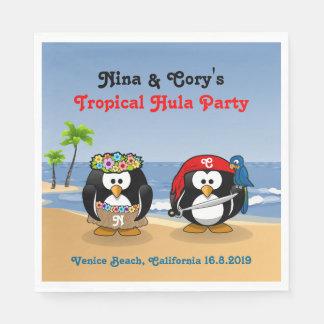 Servilletas De Papel Playa tropical de la isla del pirata de Hula de