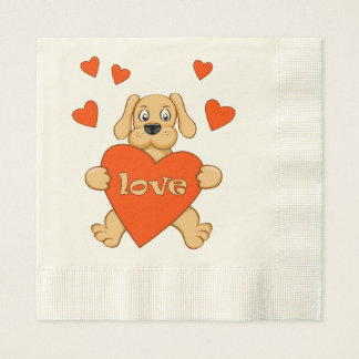 Servilletas De Papel puppy with love